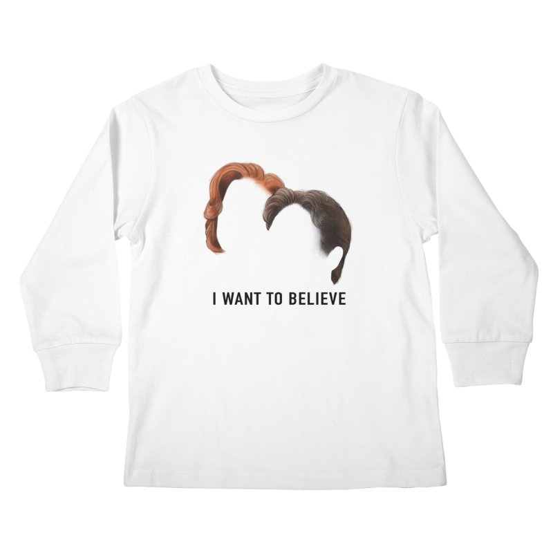 I WANT TO BELIEVE Kids Longsleeve T-Shirt by Jessika Savage Artist Shop