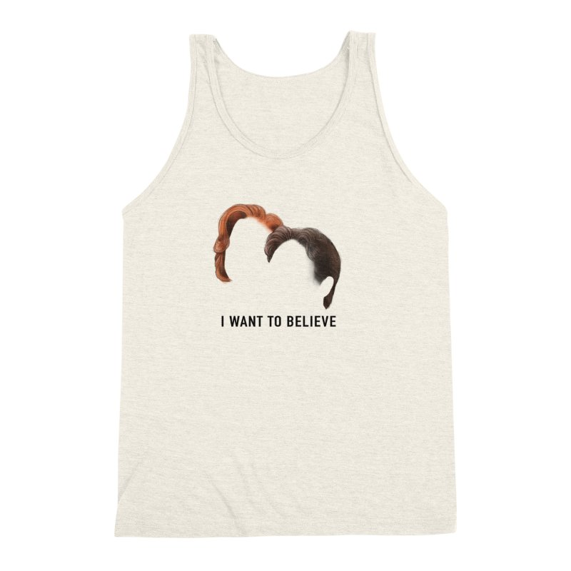I WANT TO BELIEVE Men's Triblend Tank by Jessika Savage Artist Shop