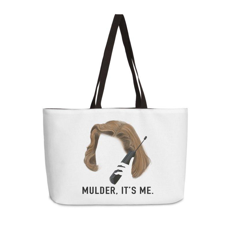 Mulder, It's Me. Accessories Weekender Bag Bag by Jessika Savage Artist Shop