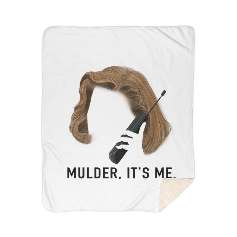 Mulder, It's Me. Home Sherpa Blanket Blanket by Jessika Savage Artist Shop