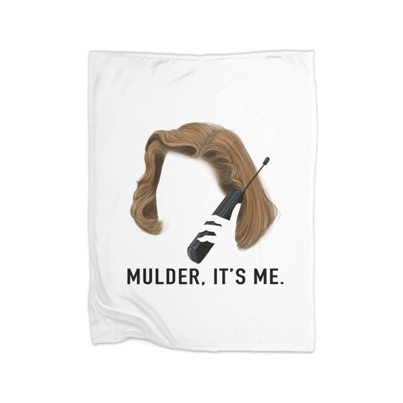 Mulder, It's Me. Home Fleece Blanket Blanket by Jessika Savage Artist Shop
