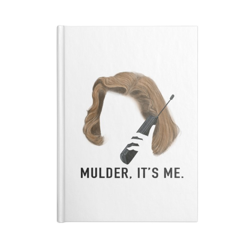 Mulder, It's Me. Accessories Lined Journal Notebook by Jessika Savage Artist Shop