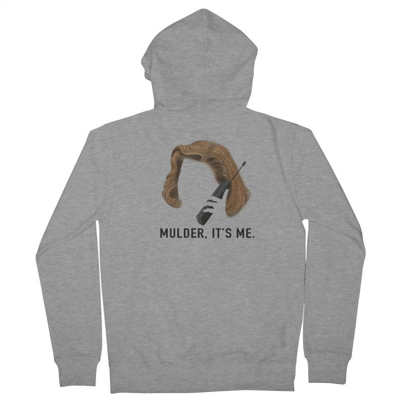 Mulder, It's Me. Men's French Terry Zip-Up Hoody by Jessika Savage Artist Shop