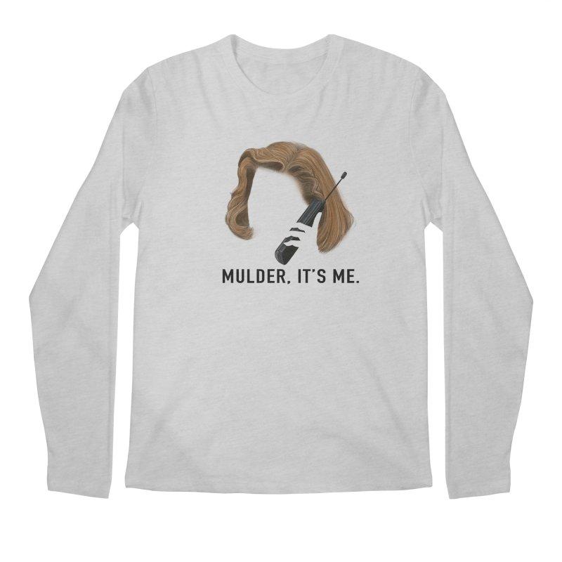 Mulder, It's Me. Men's Regular Longsleeve T-Shirt by Jessika Savage Artist Shop