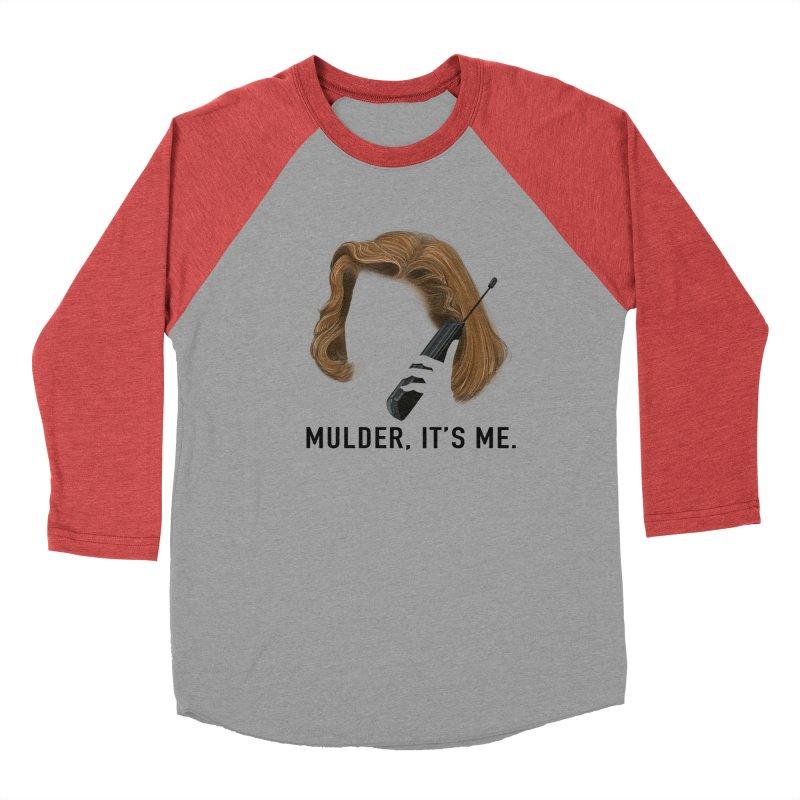 Mulder, It's Me. Men's Baseball Triblend Longsleeve T-Shirt by Jessika Savage Artist Shop