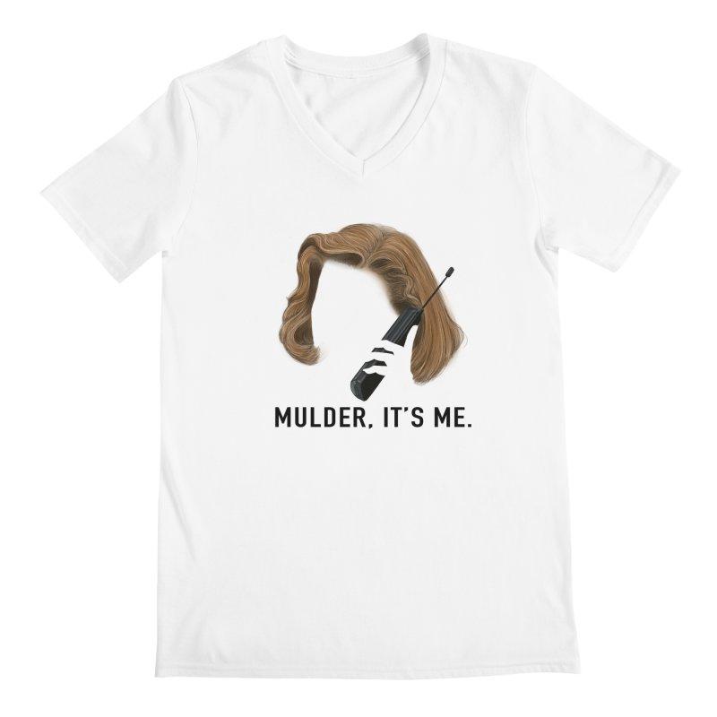 Mulder, It's Me. Men's Regular V-Neck by Jessika Savage Artist Shop