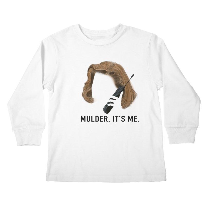 Mulder, It's Me. Kids Longsleeve T-Shirt by Jessika Savage Artist Shop