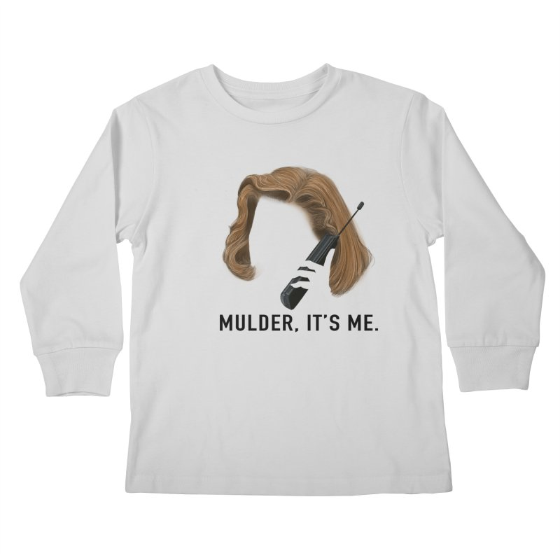Mulder, It's Me. Kids Longsleeve T-Shirt by Jessika Savage Artist Shop