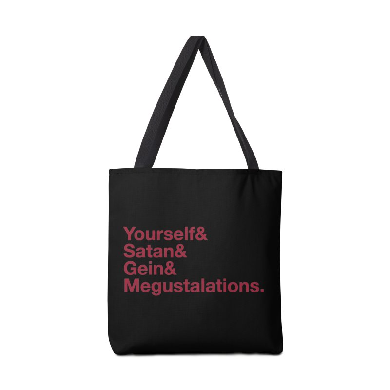 Hail Yourself, Hail Satan, Hail Gein & Megustalations - blood red Accessories Tote Bag Bag by Jessika Savage Artist Shop