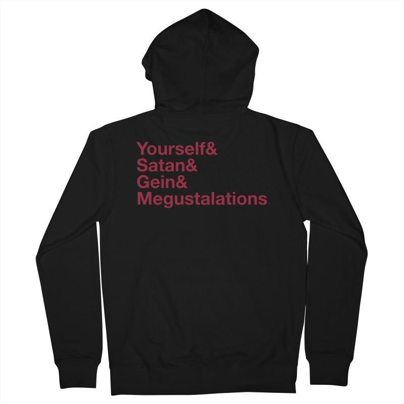 Hail Yourself, Hail Satan, Hail Gein & Megustalations - blood red Men's Zip-Up Hoody by Jessika Savage Artist Shop