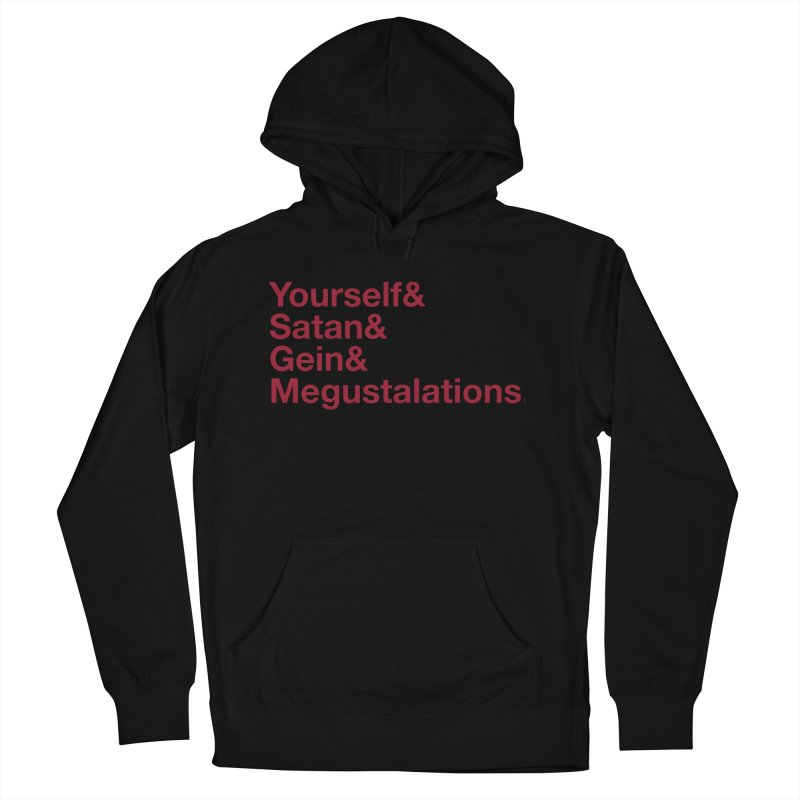 Hail Yourself, Hail Satan, Hail Gein & Megustalations - blood red Men's French Terry Pullover Hoody by Jessika Savage Artist Shop