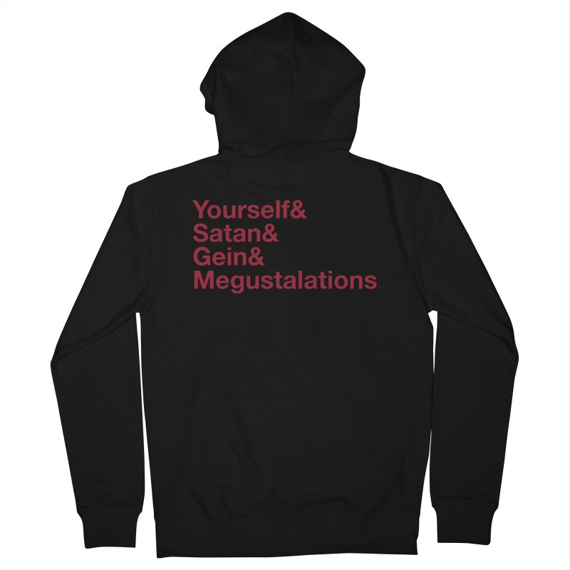 Hail Yourself, Hail Satan, Hail Gein & Megustalations - blood red Men's French Terry Zip-Up Hoody by Jessika Savage Artist Shop
