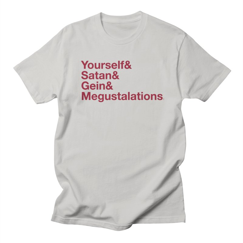 Hail Yourself, Hail Satan, Hail Gein & Megustalations - blood red Men's Regular T-Shirt by Jessika Savage Artist Shop