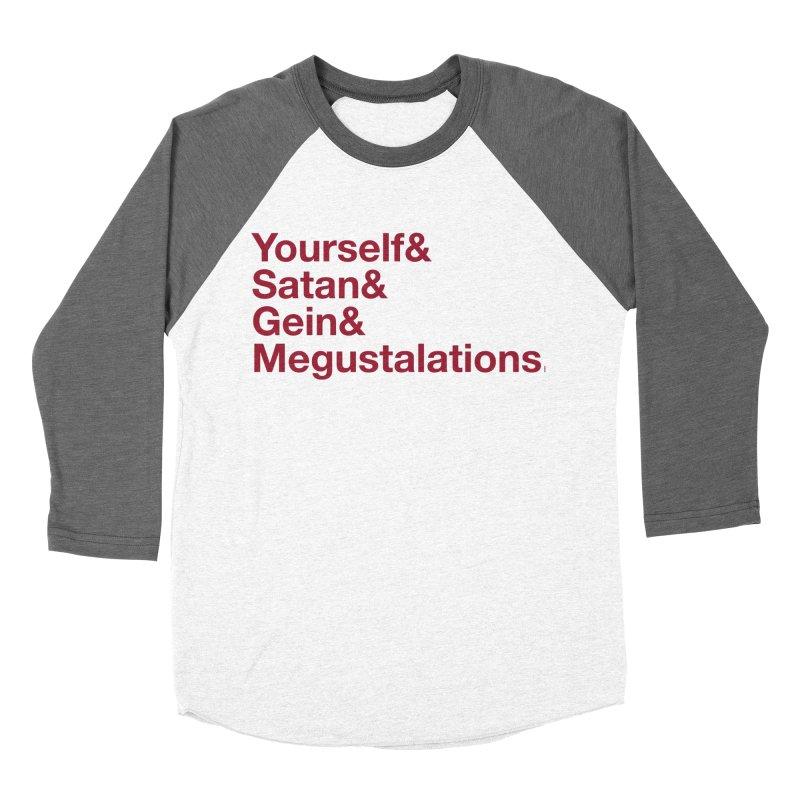 Hail Yourself, Hail Satan, Hail Gein & Megustalations - blood red Women's Baseball Triblend Longsleeve T-Shirt by Jessika Savage Artist Shop