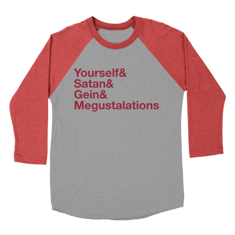 Hail Yourself, Hail Satan, Hail Gein & Megustalations - blood red Men's Baseball Triblend Longsleeve T-Shirt by Jessika Savage Artist Shop