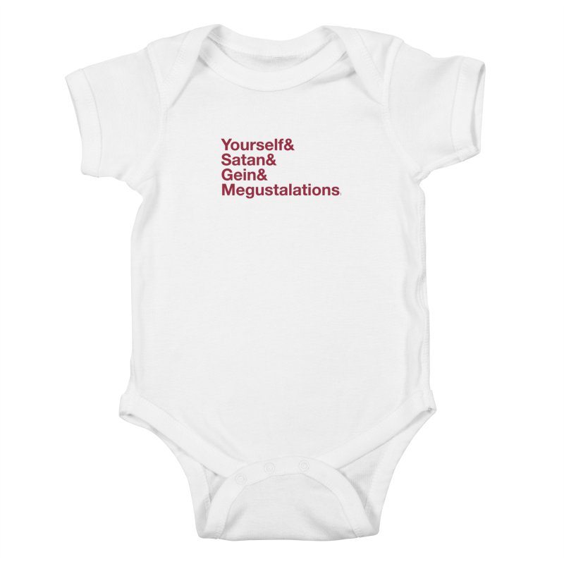 Hail Yourself, Hail Satan, Hail Gein & Megustalations - blood red Kids Baby Bodysuit by Jessika Savage Artist Shop