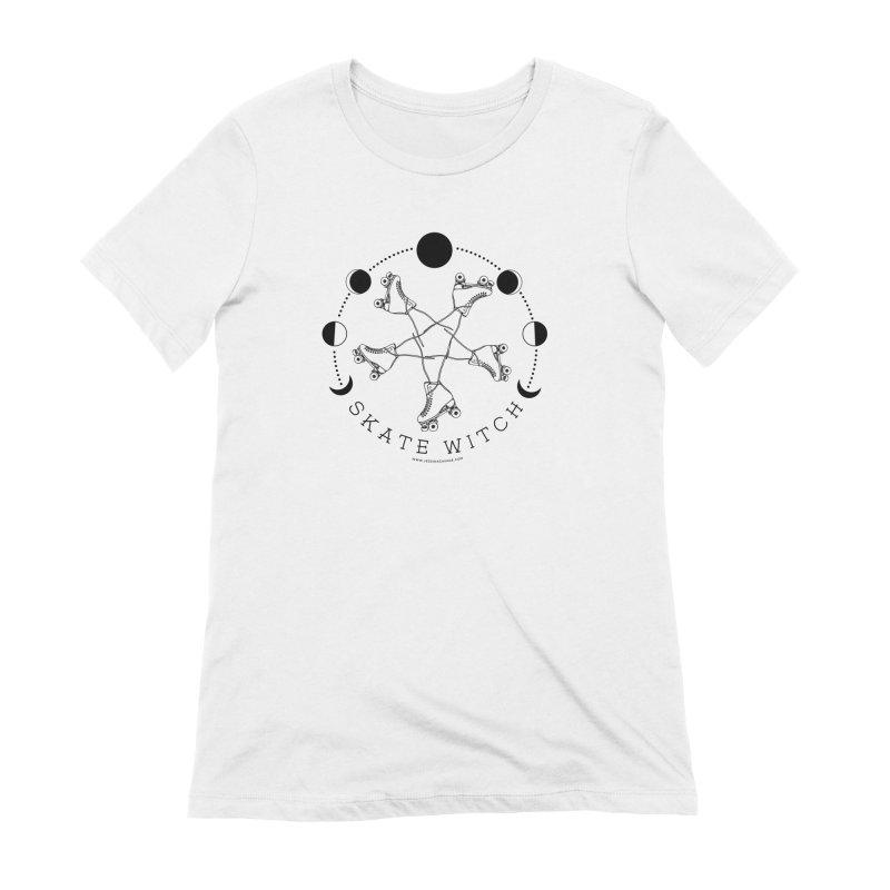 Skate Witch - Black Women's Extra Soft T-Shirt by Jessika Savage Artist Shop