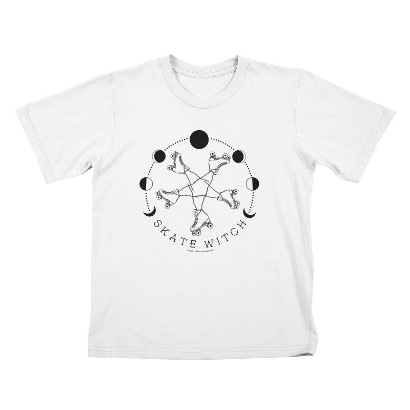 Skate Witch - Black Kids T-Shirt by Jessika Savage Artist Shop