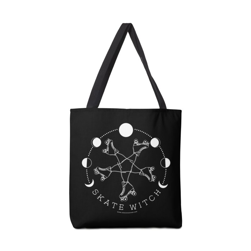 Skate Witch - White Accessories Tote Bag Bag by Jessika Savage Artist Shop