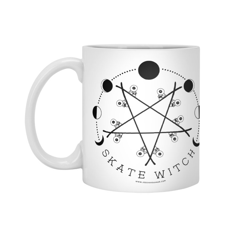 Skateboard Skate Witch Design Accessories Standard Mug by Jessika Savage Artist Shop