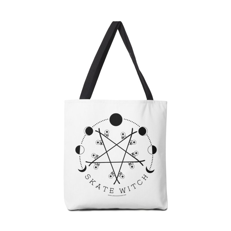 Skateboard Skate Witch Design Accessories Tote Bag Bag by Jessika Savage Artist Shop