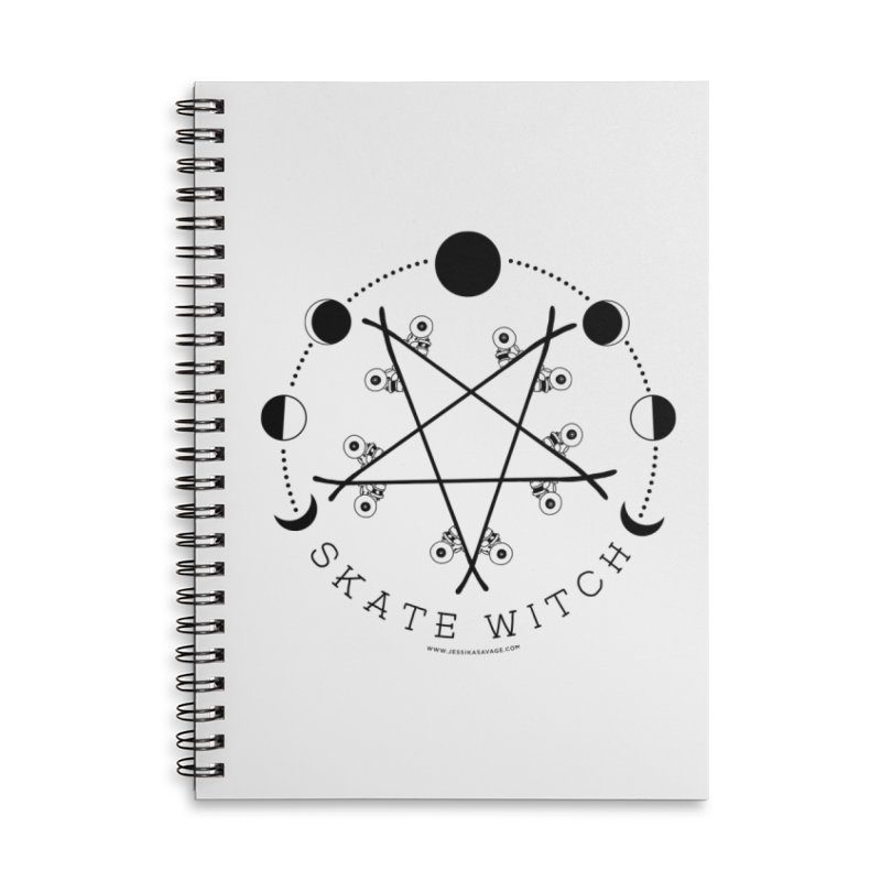 Skateboard Skate Witch Design Accessories Lined Spiral Notebook by Jessika Savage Artist Shop