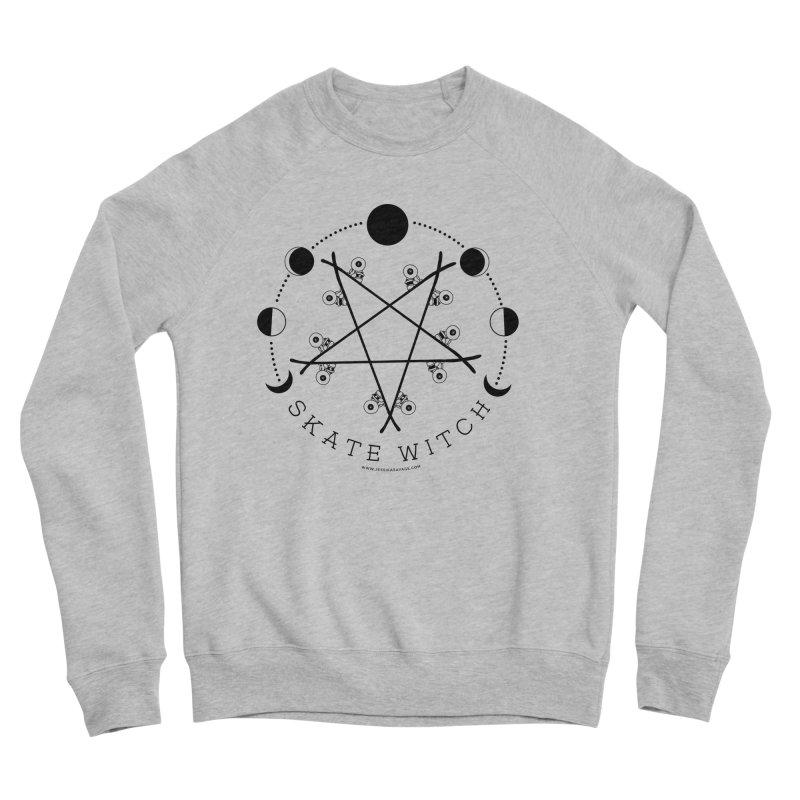 Skateboard Skate Witch Design Women's Sponge Fleece Sweatshirt by Jessika Savage Artist Shop