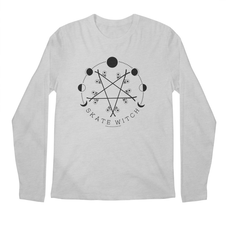 Skateboard Skate Witch Design Men's Regular Longsleeve T-Shirt by Jessika Savage Artist Shop