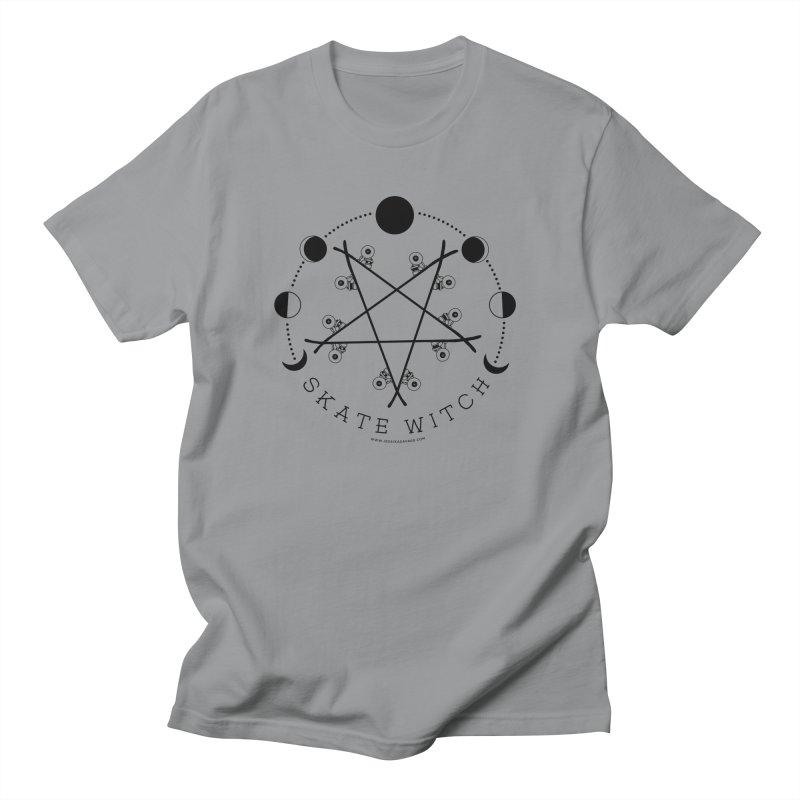 Skateboard Skate Witch Design Men's Regular T-Shirt by Jessika Savage Artist Shop