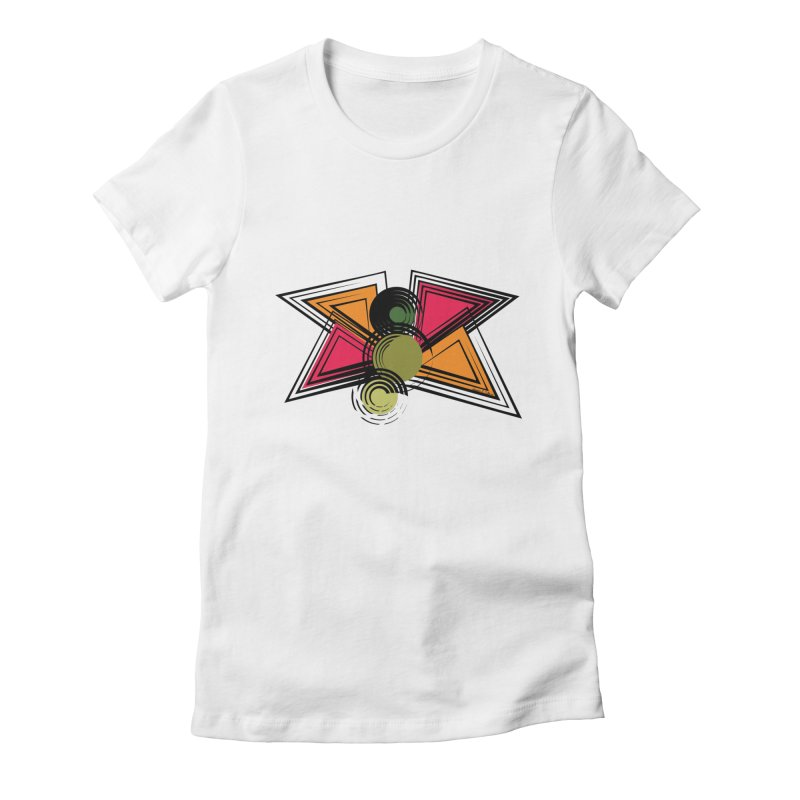 Abstract Butterfly Women's Fitted T-Shirt by jessileigh's Artist Shop