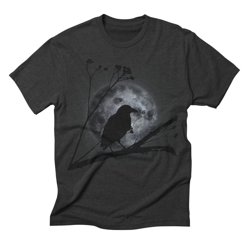 Crow Moon Men's Triblend T-shirt by jessileigh's Artist Shop