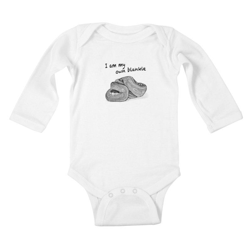 I Am My Own Blankie Kids Baby Longsleeve Bodysuit by jessileigh's Artist Shop