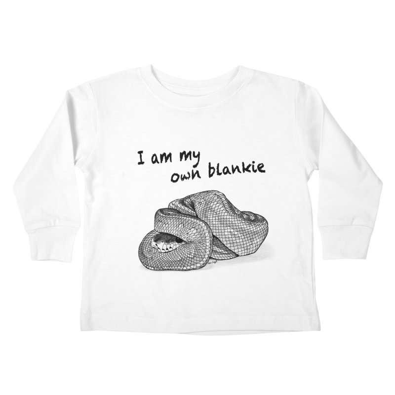 I Am My Own Blankie Kids Toddler Longsleeve T-Shirt by jessileigh's Artist Shop