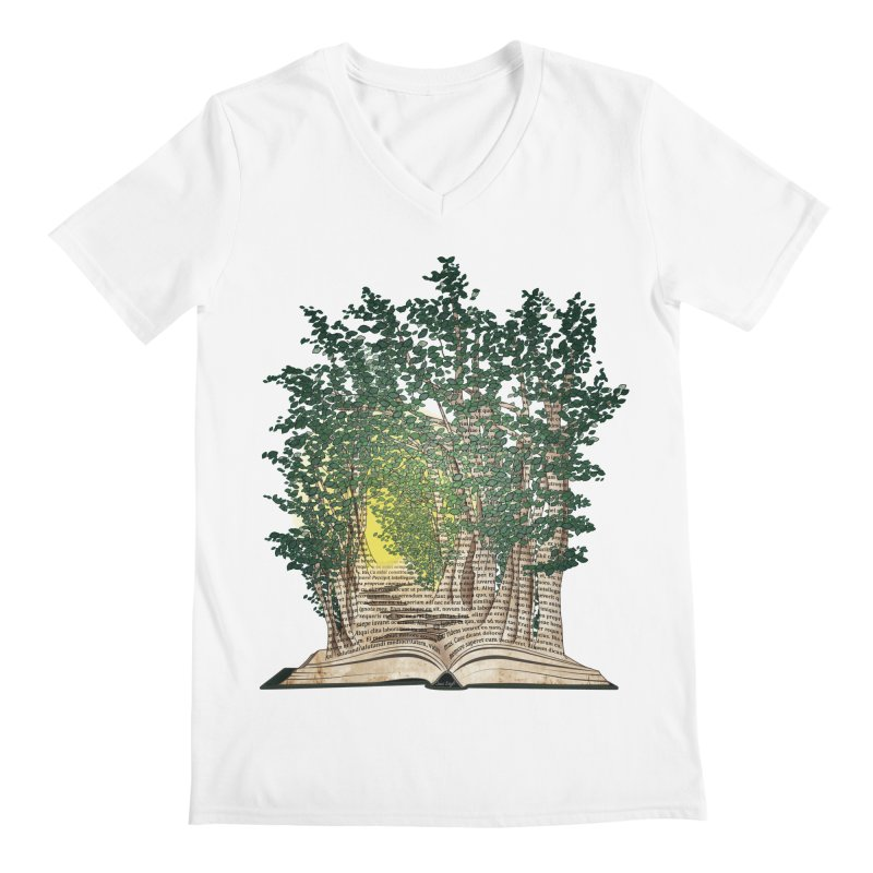 Journey in a Book Men's V-Neck by jessileigh's Artist Shop