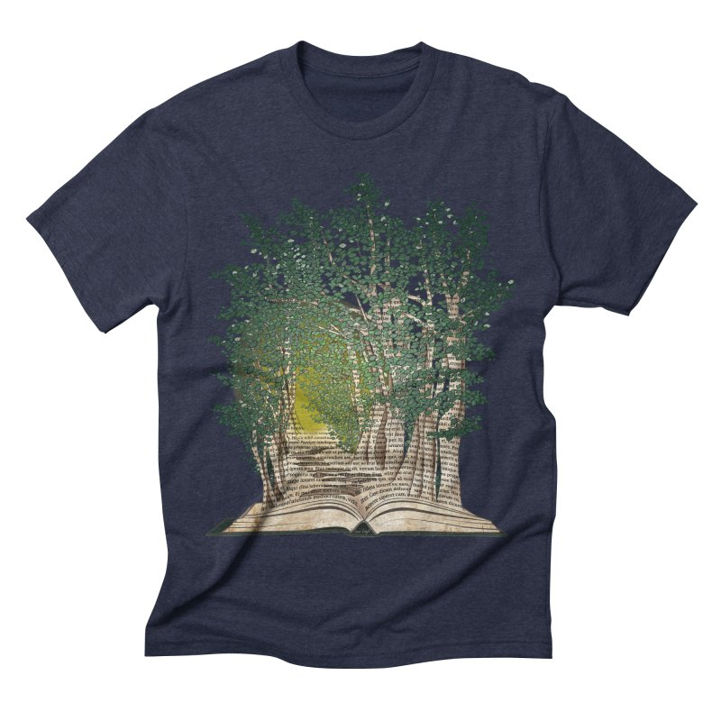Journey in a Book Men's Triblend T-shirt by jessileigh's Artist Shop