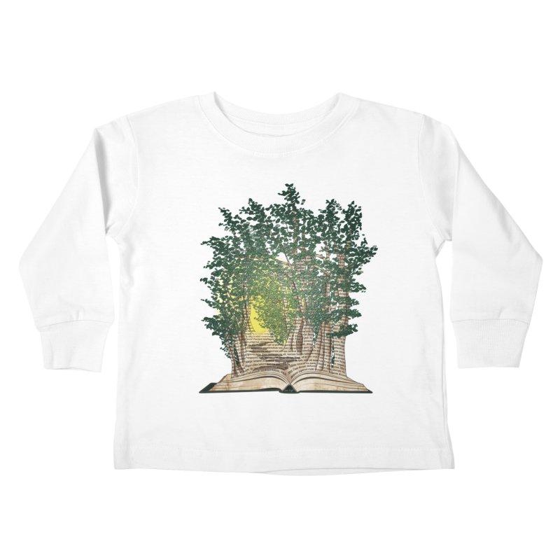 Journey in a Book Kids Toddler Longsleeve T-Shirt by jessileigh's Artist Shop