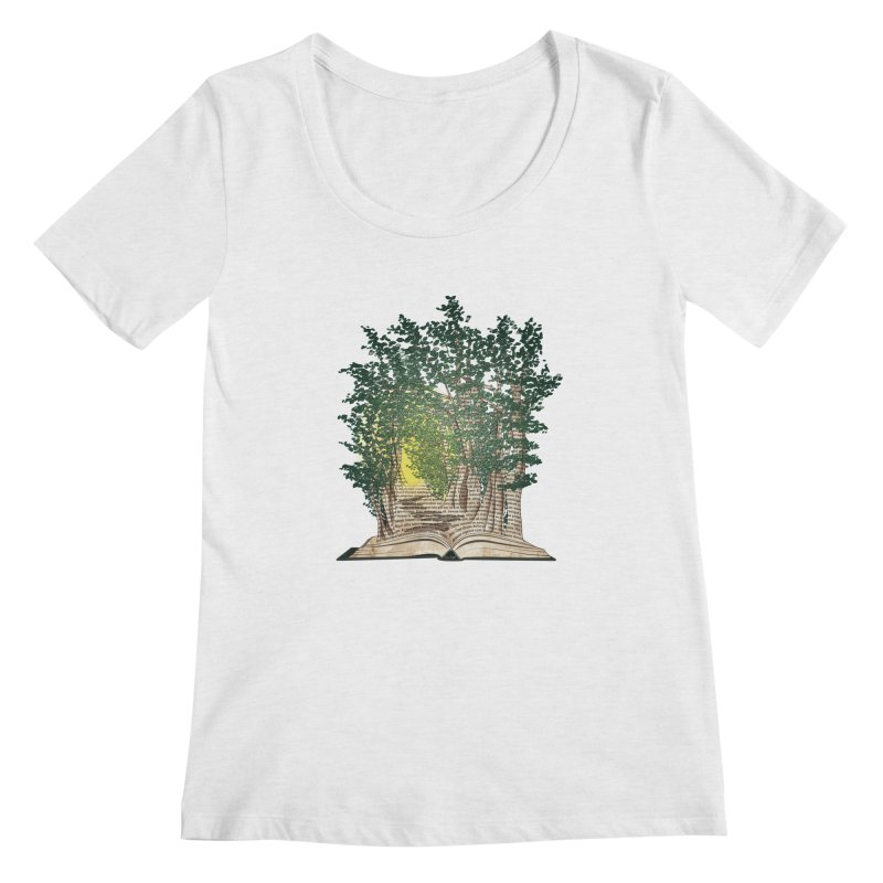 Journey in a Book Women's Scoopneck by jessileigh's Artist Shop