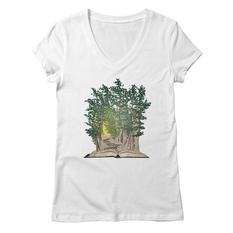 Journey in a Book Women's V-Neck by jessileigh's Artist Shop