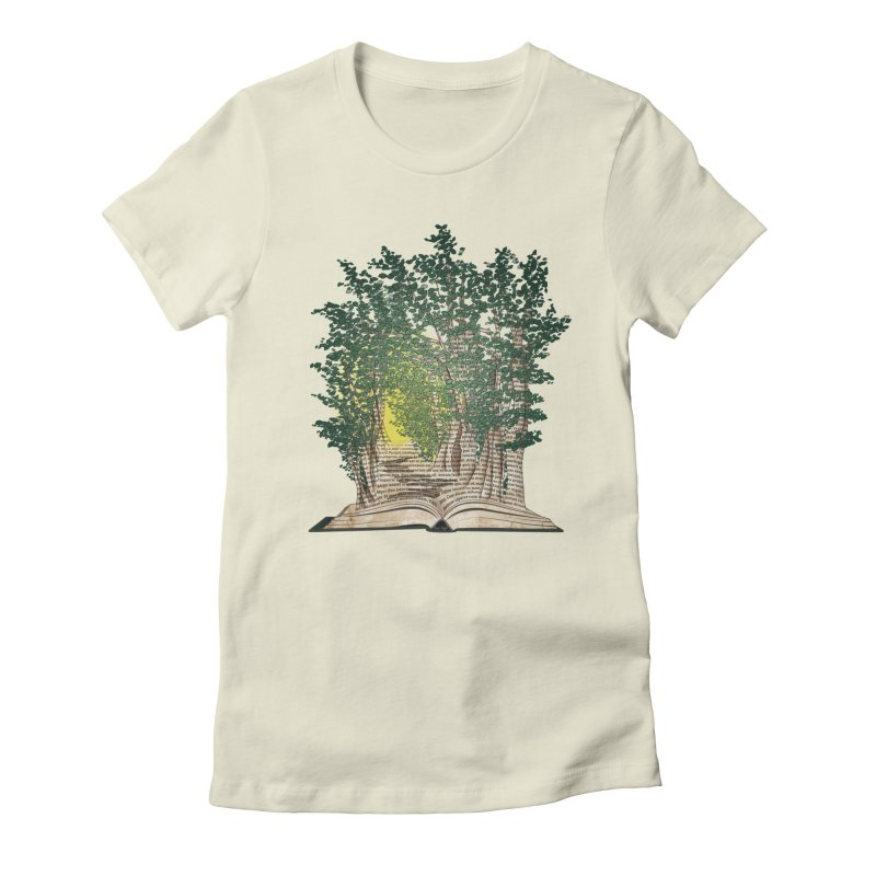 Journey in a Book Women's Fitted T-Shirt by jessileigh's Artist Shop