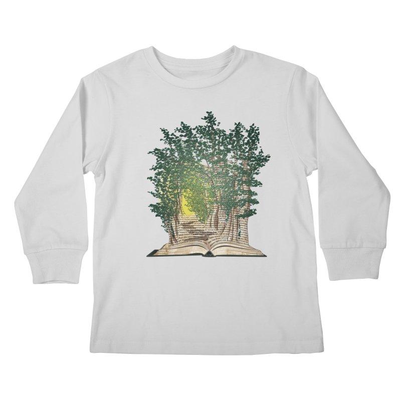 Journey in a Book Kids Longsleeve T-Shirt by jessileigh's Artist Shop