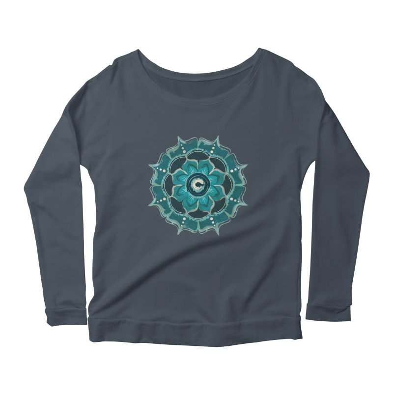 Something Blue Women's Longsleeve Scoopneck  by jessileigh's Artist Shop