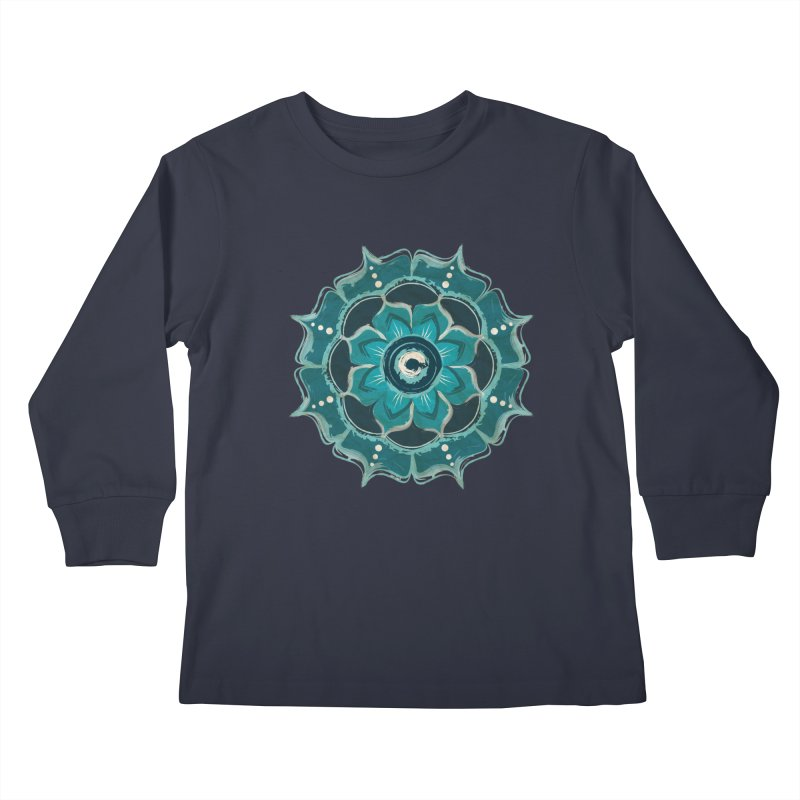 Something Blue Kids Longsleeve T-Shirt by jessileigh's Artist Shop
