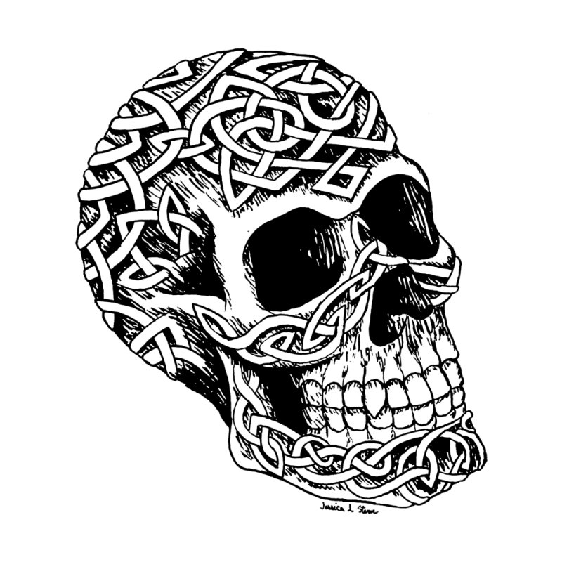 Celtic Skull None  by jessileigh's Artist Shop