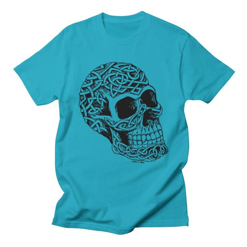 Celtic Skull Men's T-shirt by jessileigh's Artist Shop