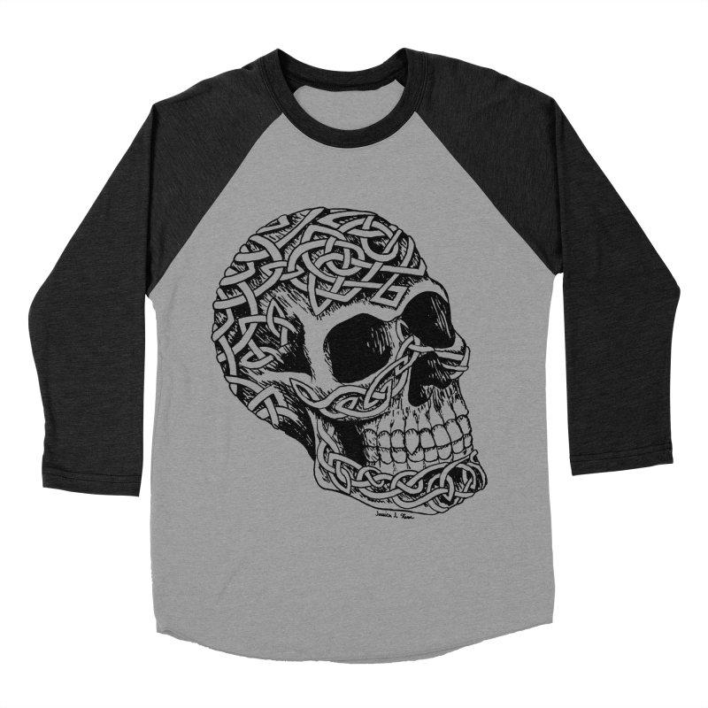 Celtic Skull Men's Baseball Triblend T-Shirt by jessileigh's Artist Shop