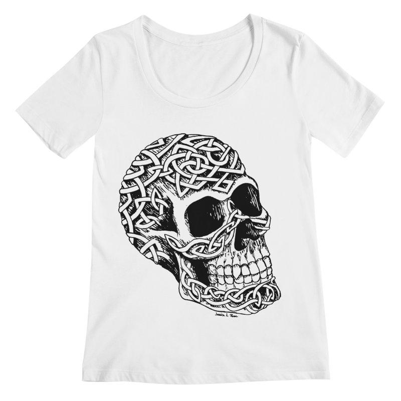 Celtic Skull Women's Scoopneck by jessileigh's Artist Shop