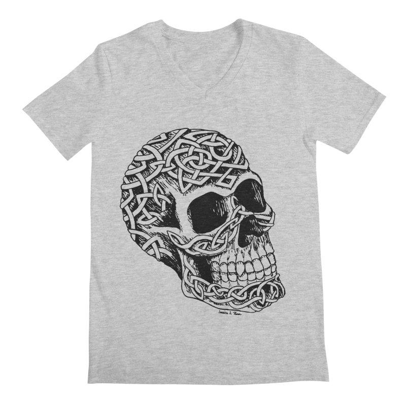 Celtic Skull Men's V-Neck by jessileigh's Artist Shop