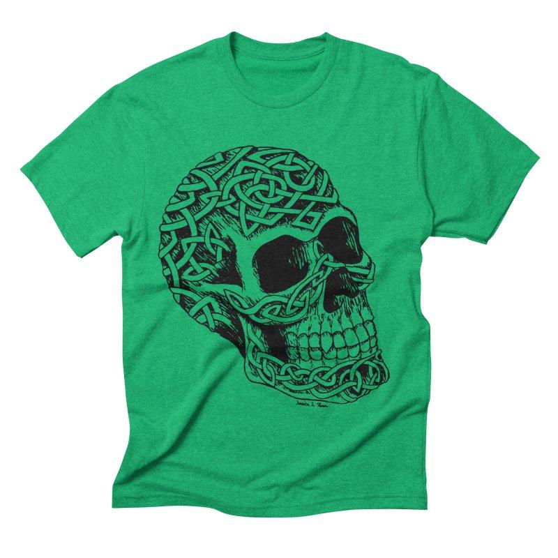 Celtic Skull Men's Triblend T-shirt by jessileigh's Artist Shop