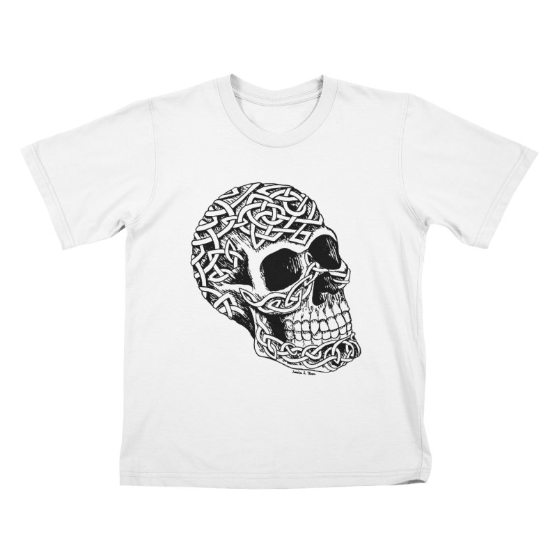 Celtic Skull Kids T-shirt by jessileigh's Artist Shop