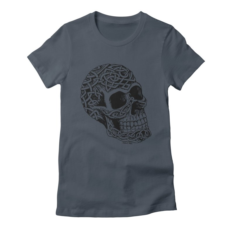 Celtic Skull Women's Fitted T-Shirt by jessileigh's Artist Shop